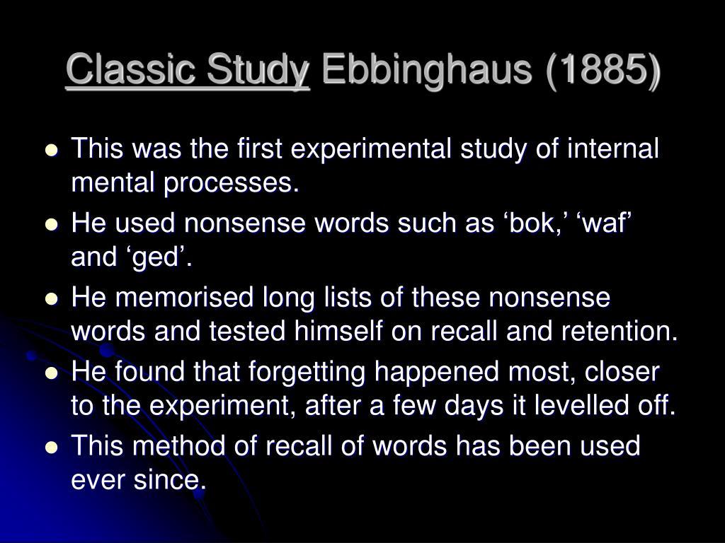 Classic Study