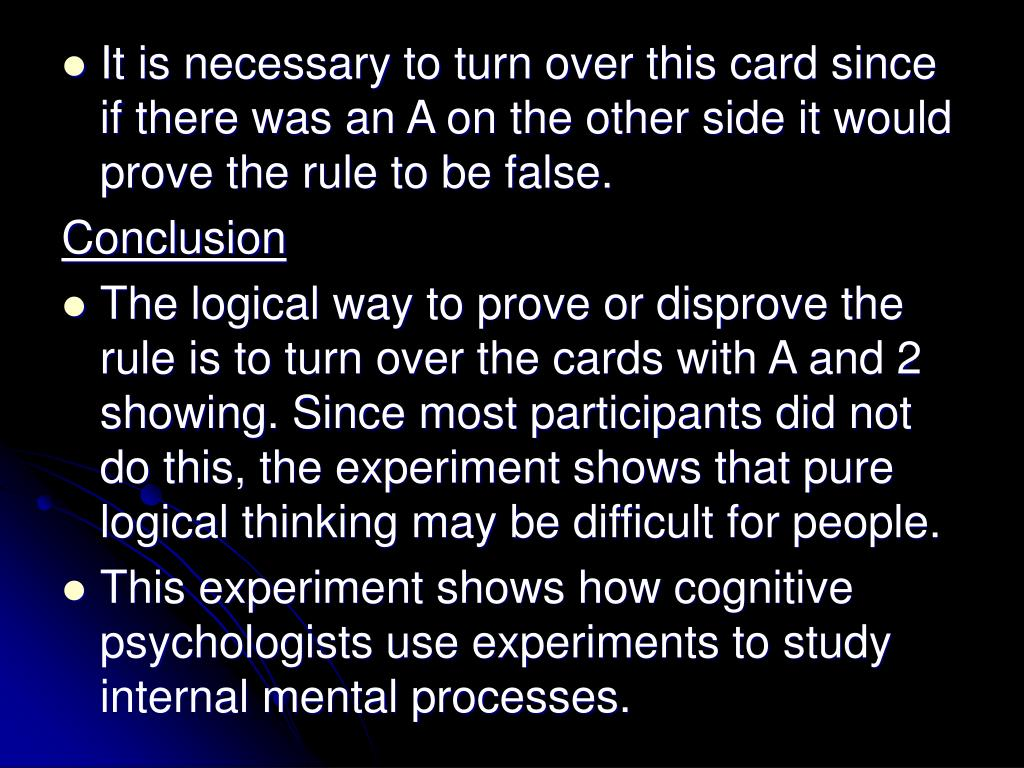 It is necessary to turn over this card since if there was an A on the other side it would prove the rule to be false.