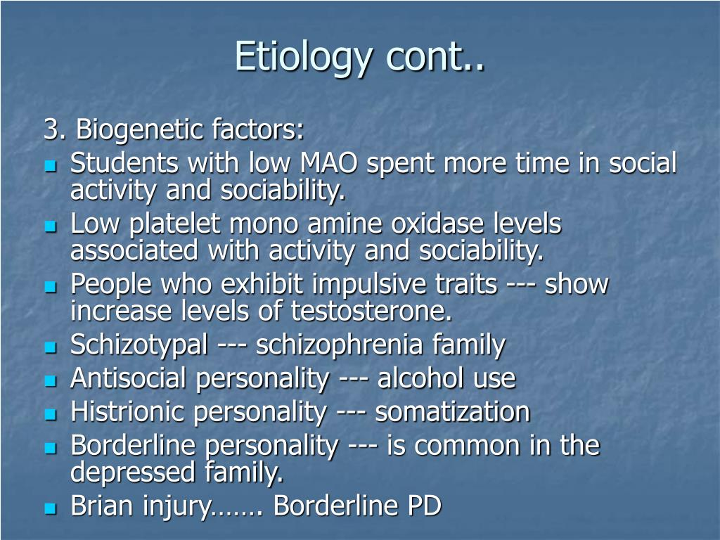Etiology cont..