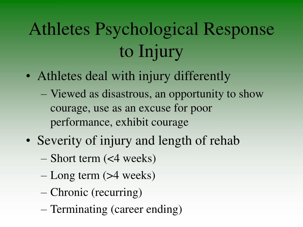 Athletes Psychological Response to Injury