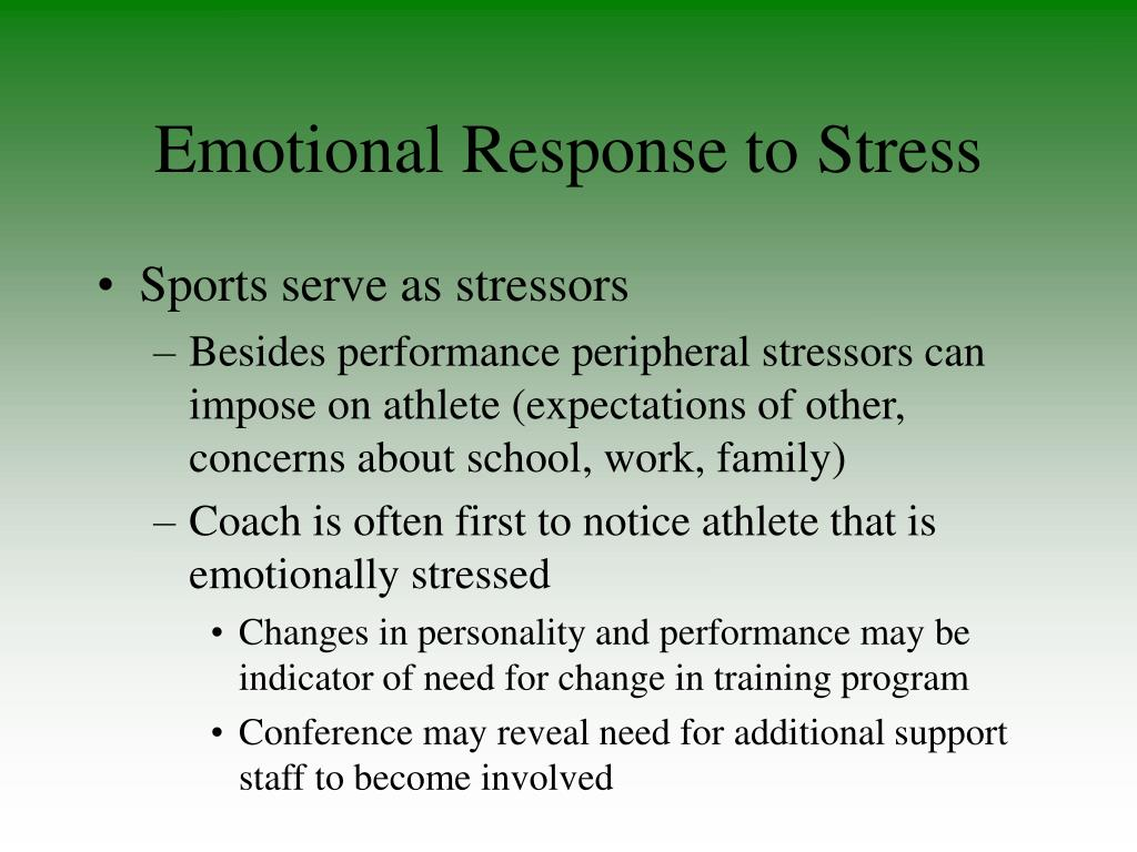 Emotional Response to Stress