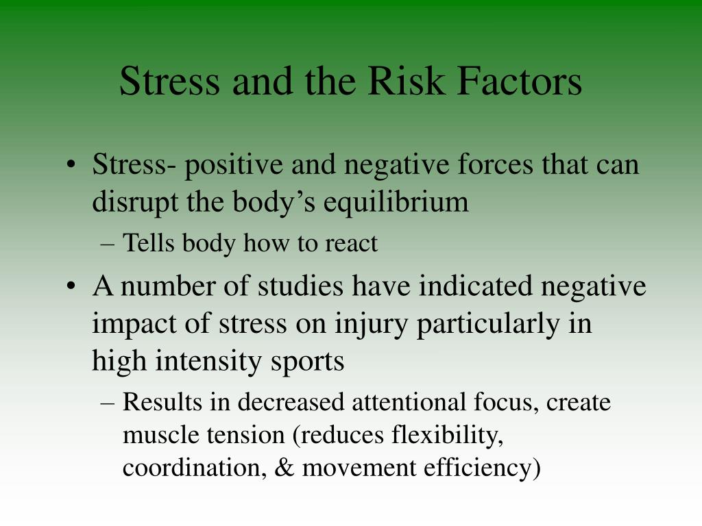 Stress and the Risk Factors