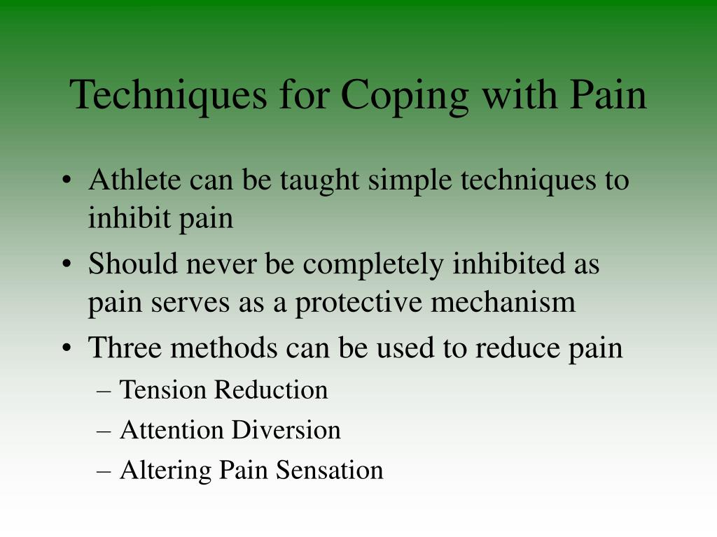Techniques for Coping with Pain