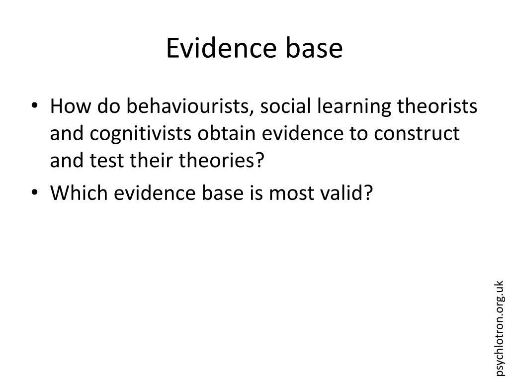Evidence base