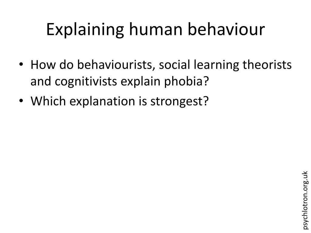 Explaining human behaviour