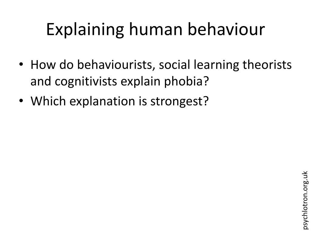 Explaining human behaviour