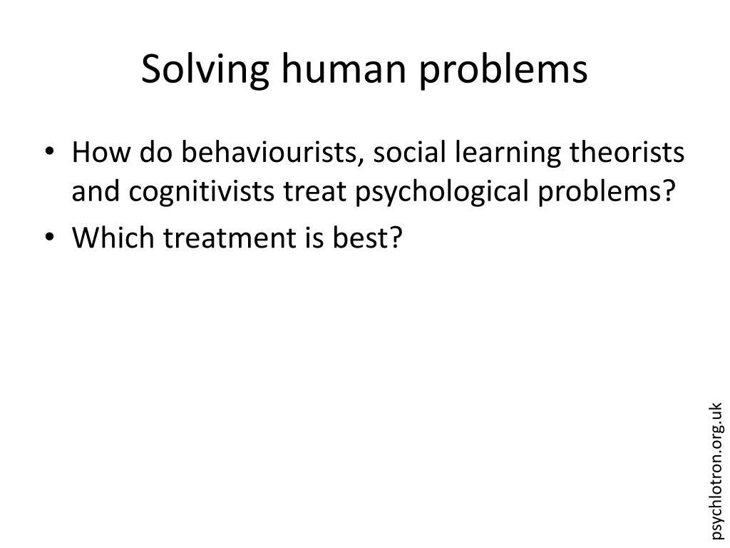 Solving human problems