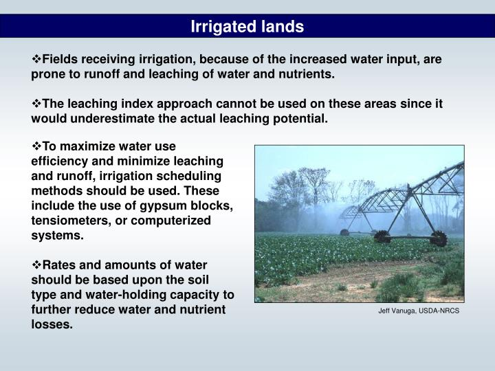 Irrigated lands