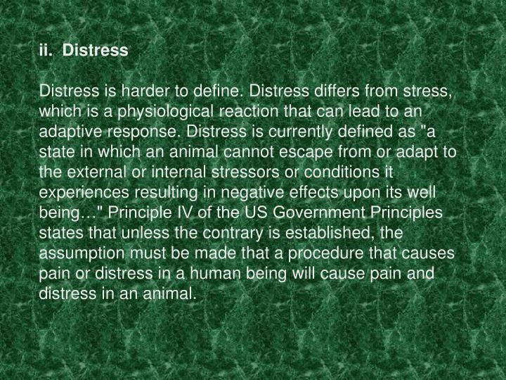 ii.  Distress
