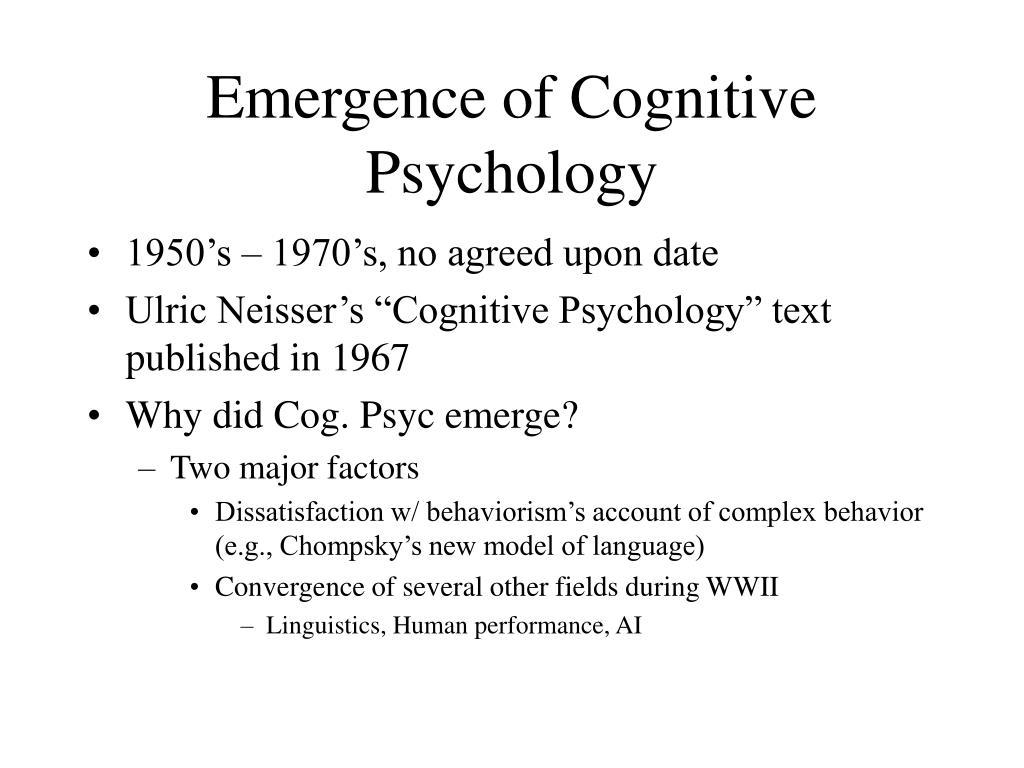 Emergence of Cognitive Psychology