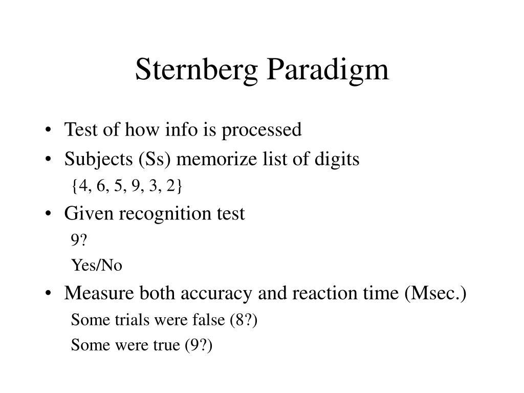 Sternberg Paradigm