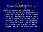 facts about bse cont d