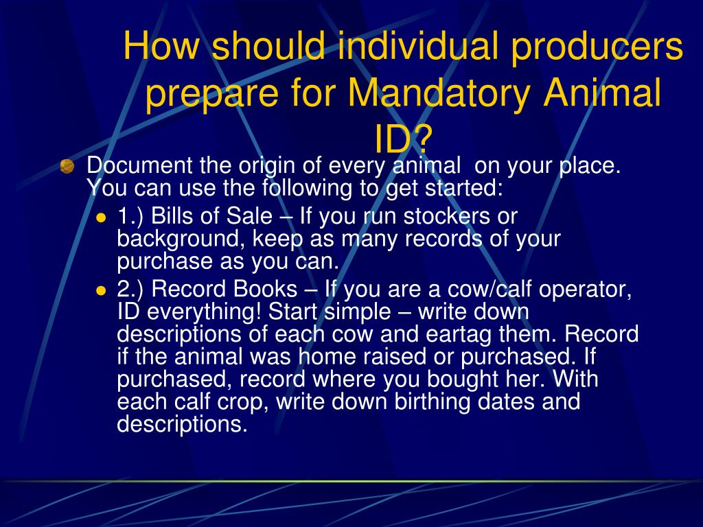 How should individual producers prepare for Mandatory Animal ID?
