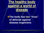 the healthy body against a world of disease