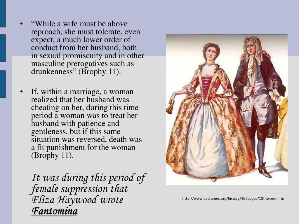 fantomina by eliza haywood 2005-7-5 selected bibliography: eliza haywood (1693-1756) by paula backscheider, auburn university,  aphra behn's fair vow-breaker, eliza haywood's fantomina,.