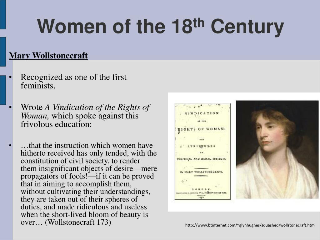 rousseau and wollstonecraft on women Wollstonecraft's views and achievements, documented in the first female   jonathan swift, jean-jacques rousseau and mary delariviere manley have.