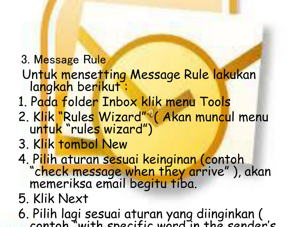 3. Message Rule