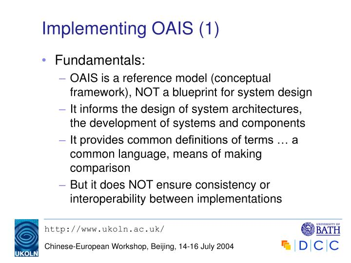 Implementing OAIS (1)