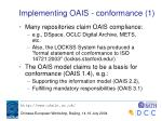 implementing oais conformance 1
