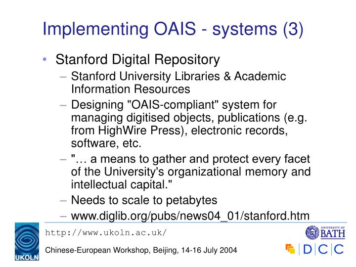 Implementing OAIS - systems (3)