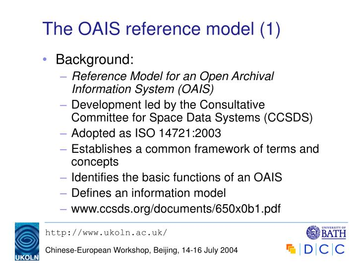 The oais reference model 1