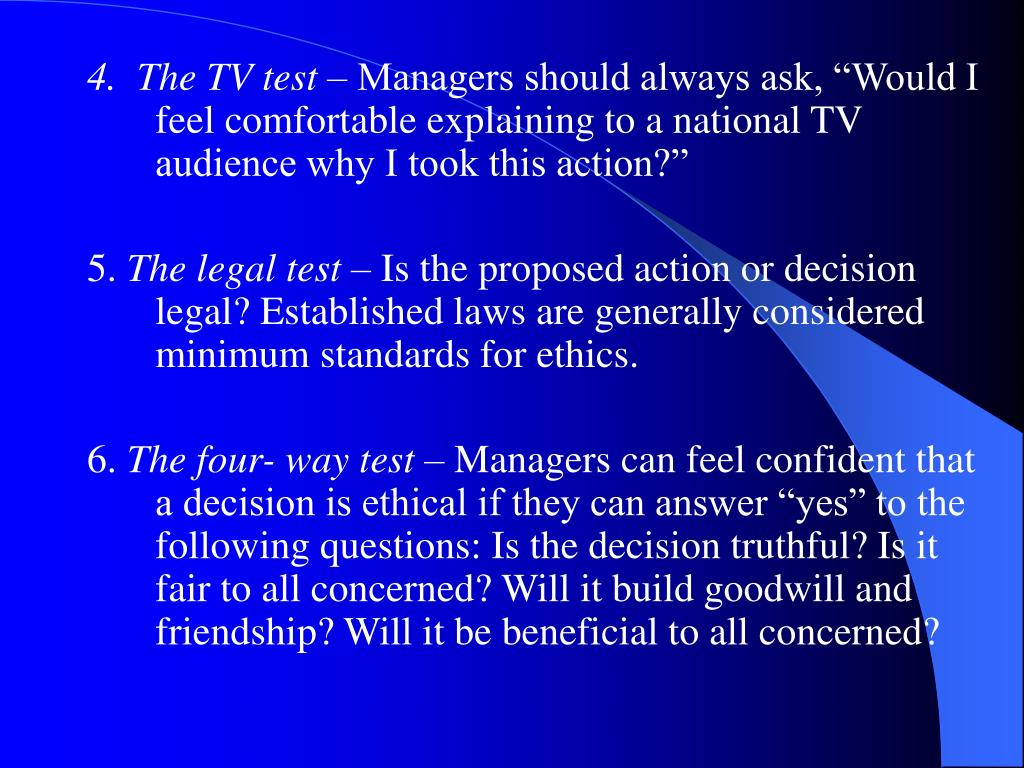 4.  The TV test –
