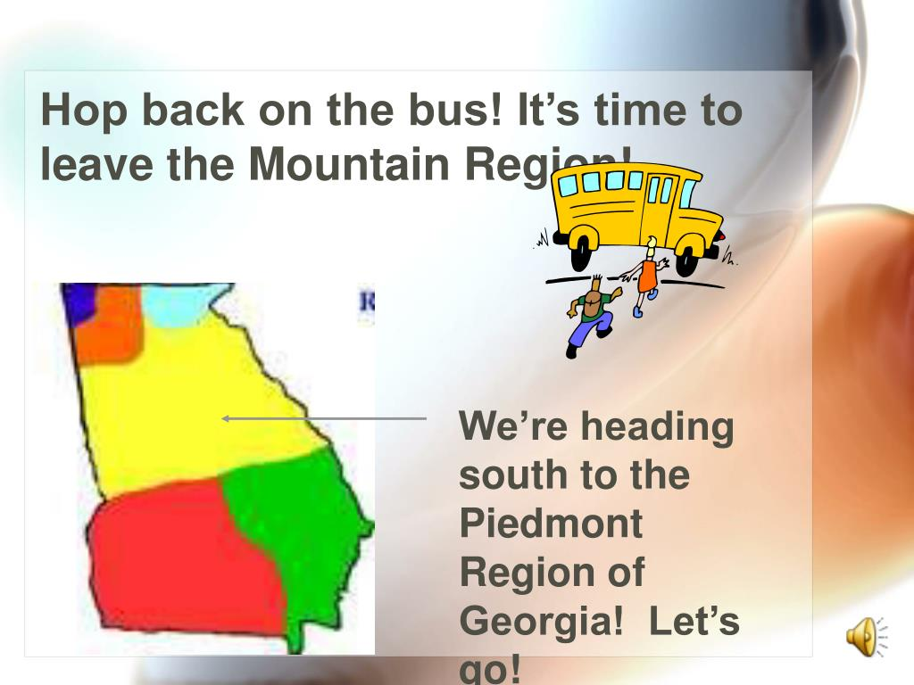 Hop back on the bus! It's time to leave the Mountain Region!