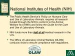 national institutes of health nih