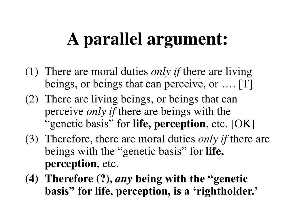 A parallel argument: