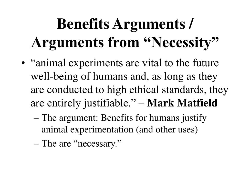 Benefits Arguments /