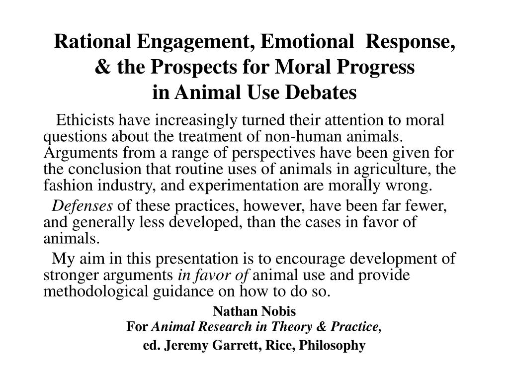 Rational Engagement, Emotional  Response, & the Prospects for Moral Progress