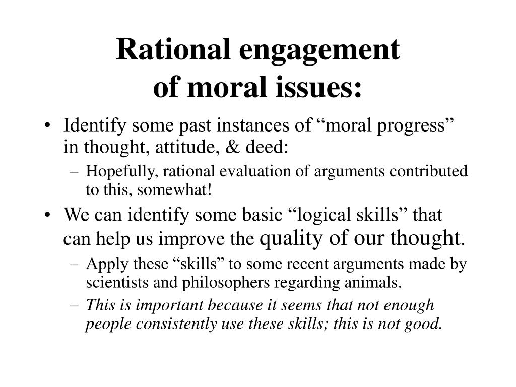 Rational engagement