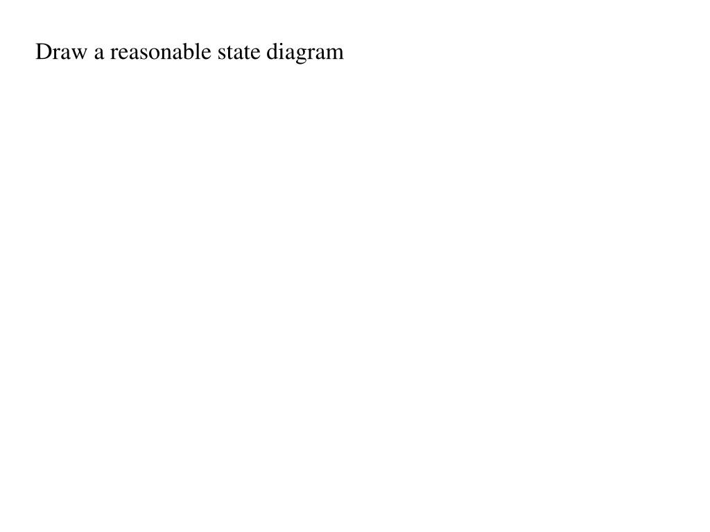 Draw a reasonable state diagram