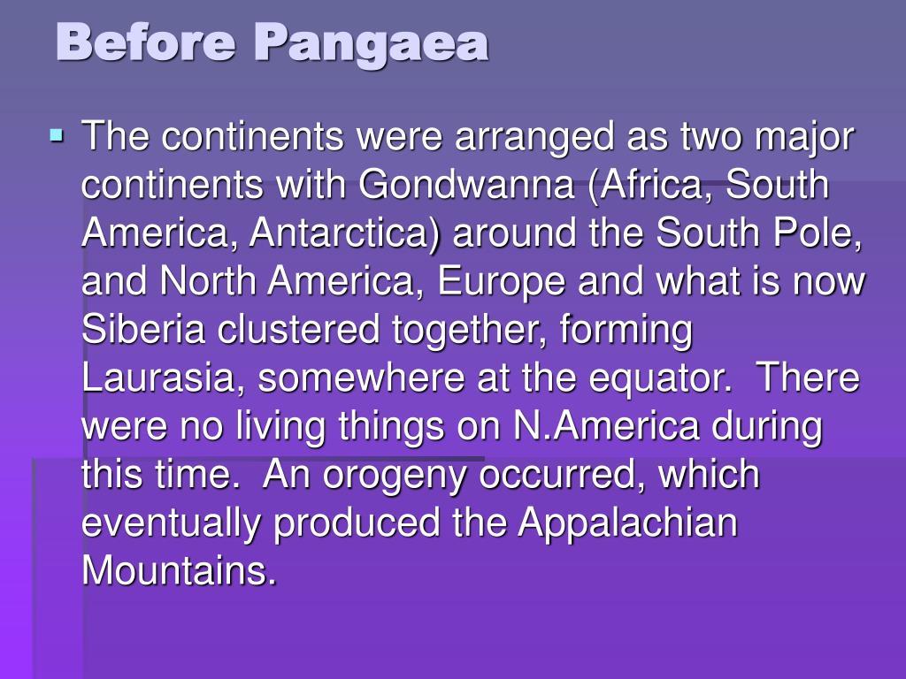 Before Pangaea