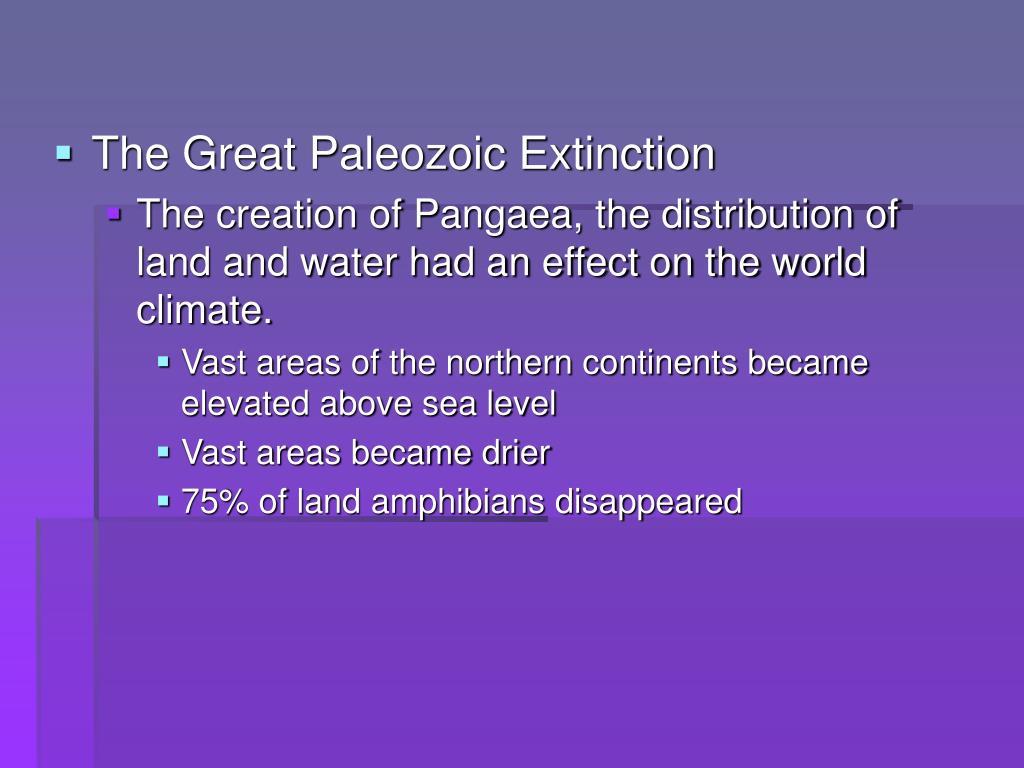 The Great Paleozoic Extinction