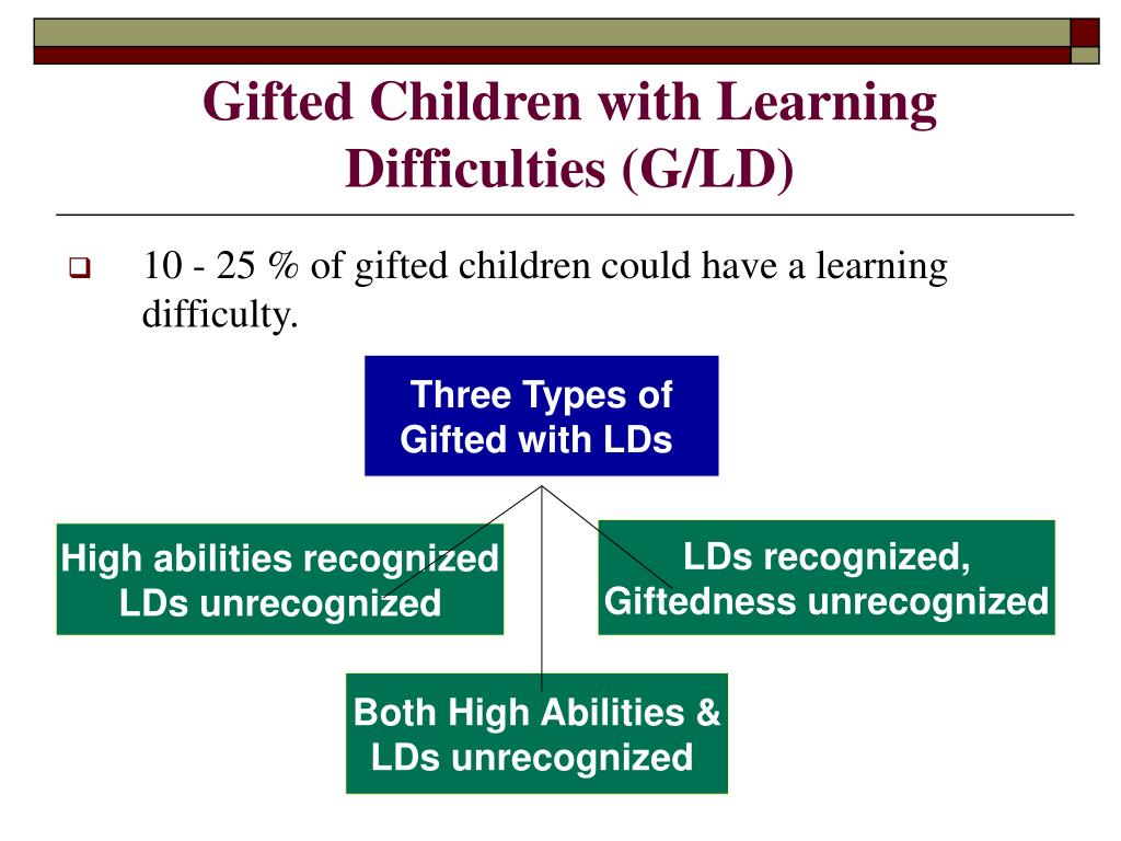 Gifted Children with Learning Difficulties (G/LD)