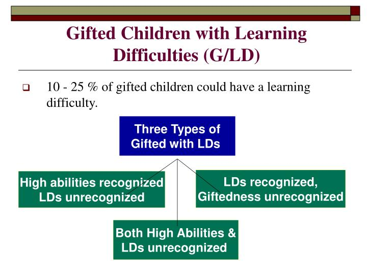 Gifted children with learning difficulties g ld l.jpg