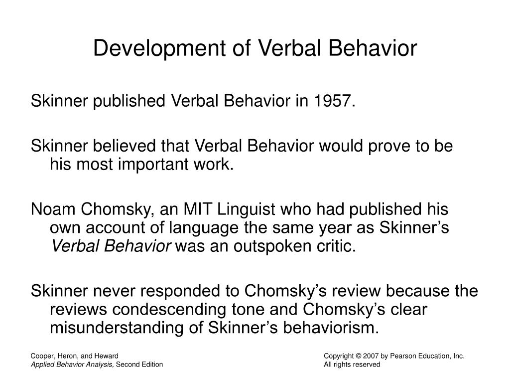 Development of Verbal Behavior
