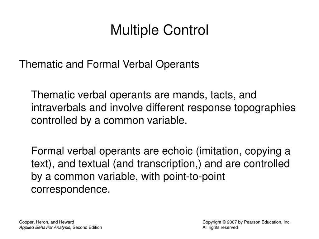 Multiple Control