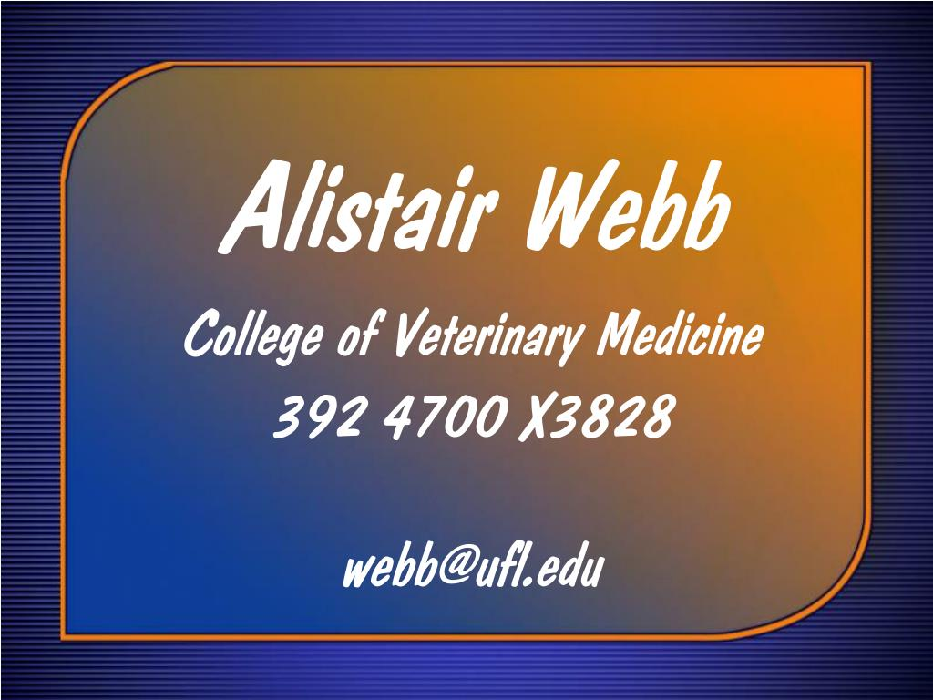 Alistair Webb