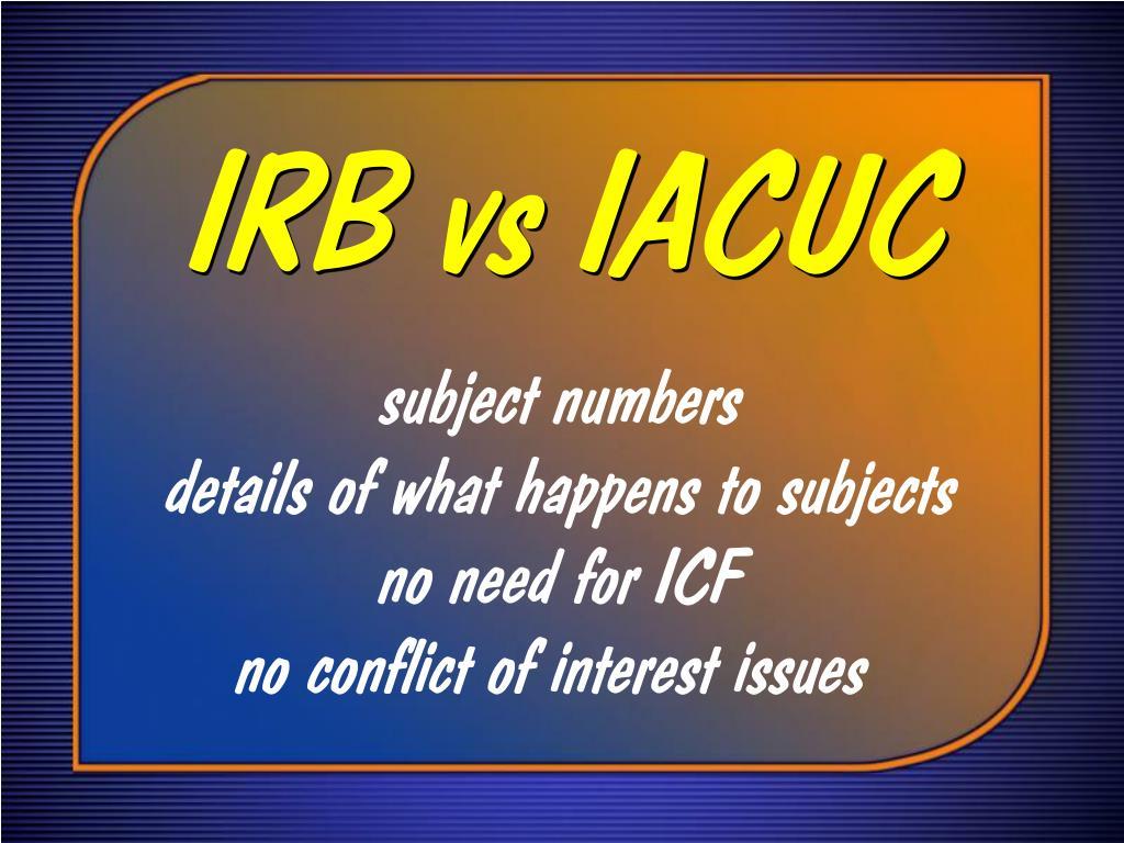IRB vs IACUC