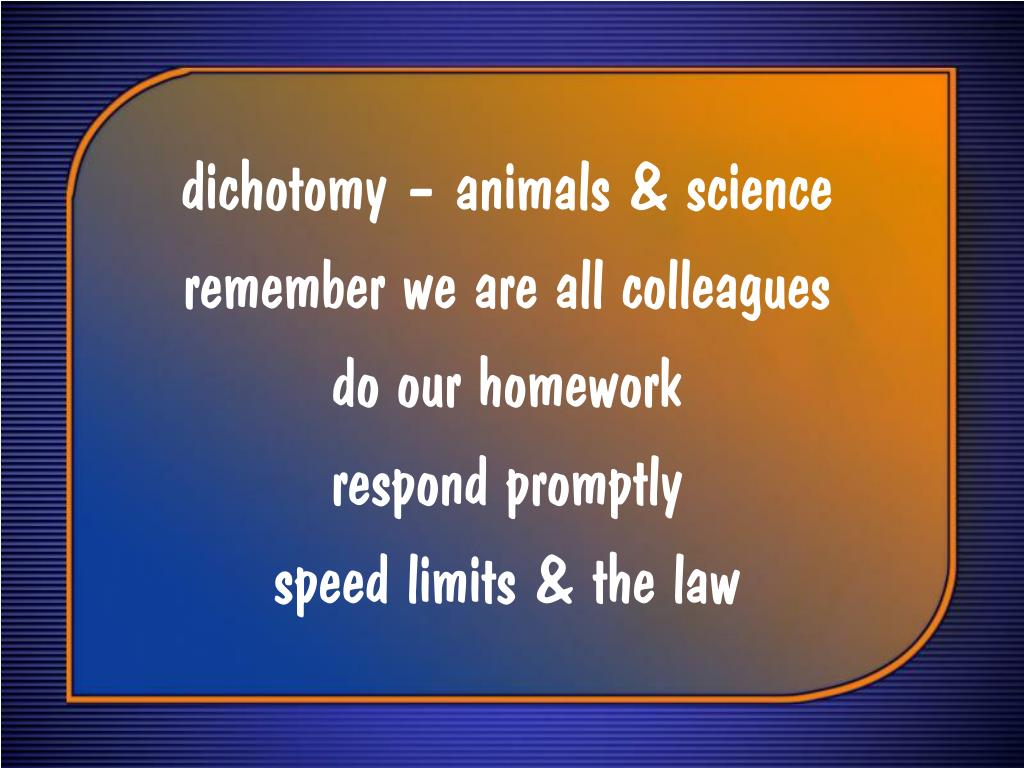 dichotomy – animals & science
