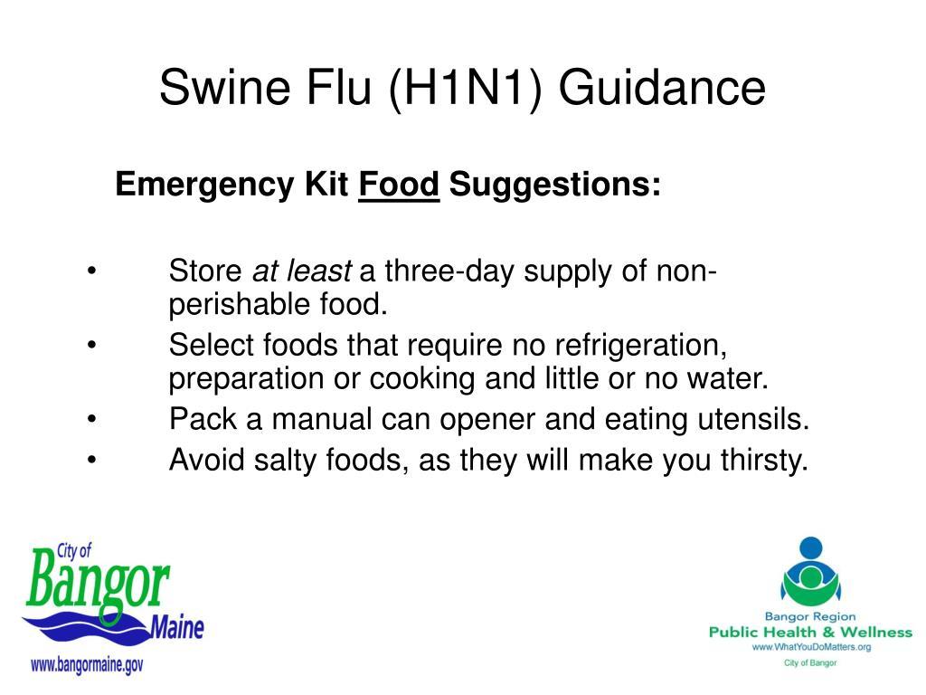 Swine Flu (H1N1) Guidance