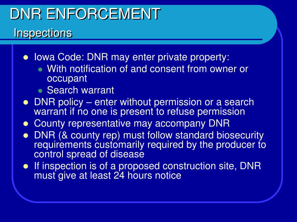 DNR ENFORCEMENT