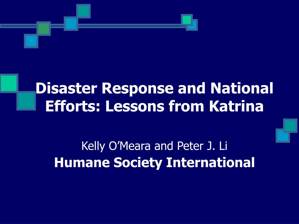 Disaster Response and National Efforts: Lessons from Katrina