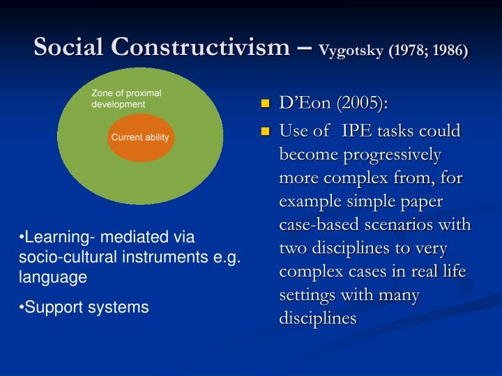 Social Constructivism –
