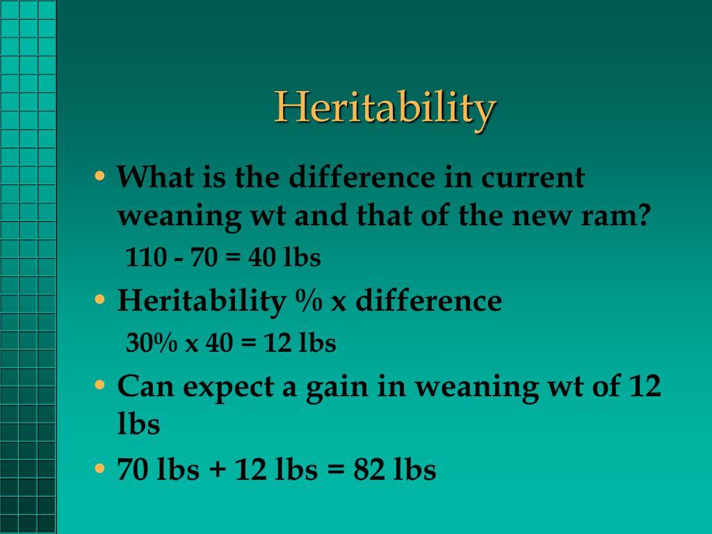 Heritability