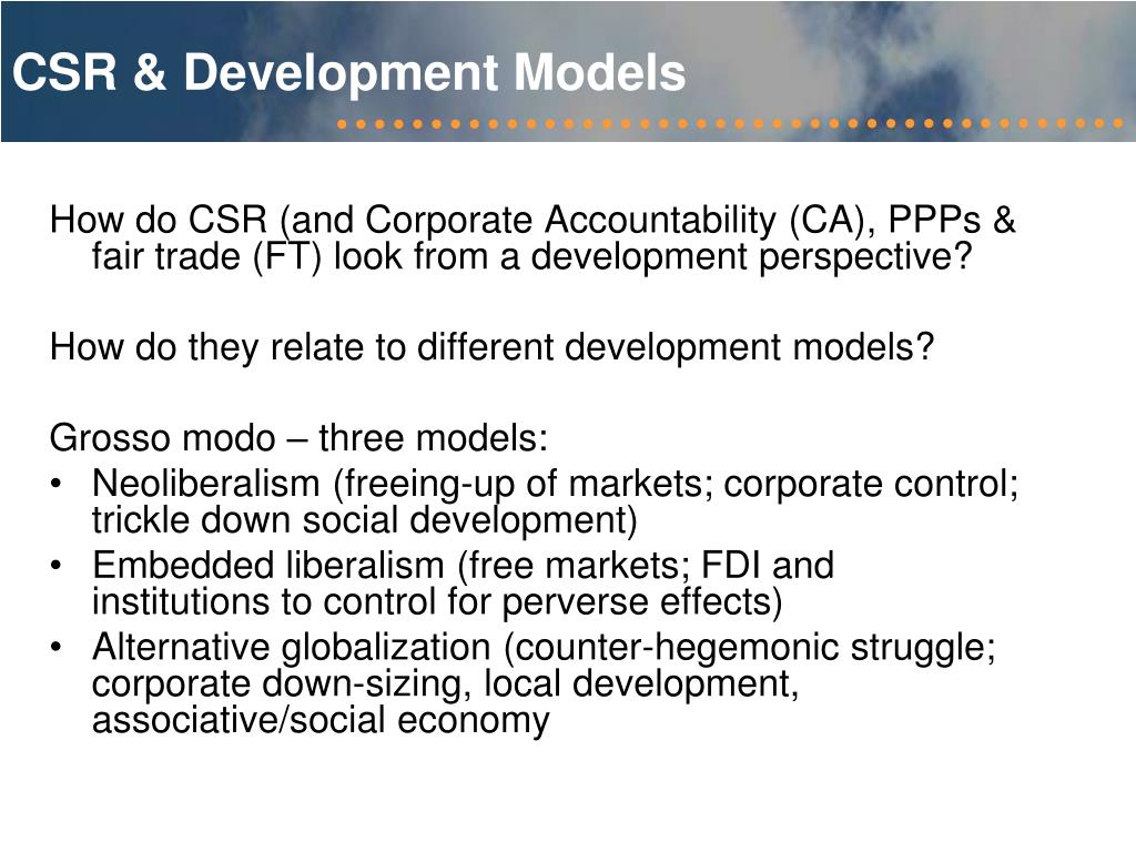 CSR & Development Models