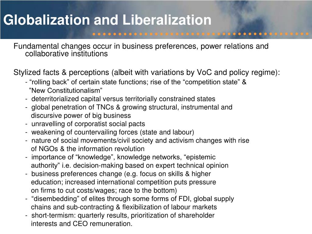 Globalization and Liberalization