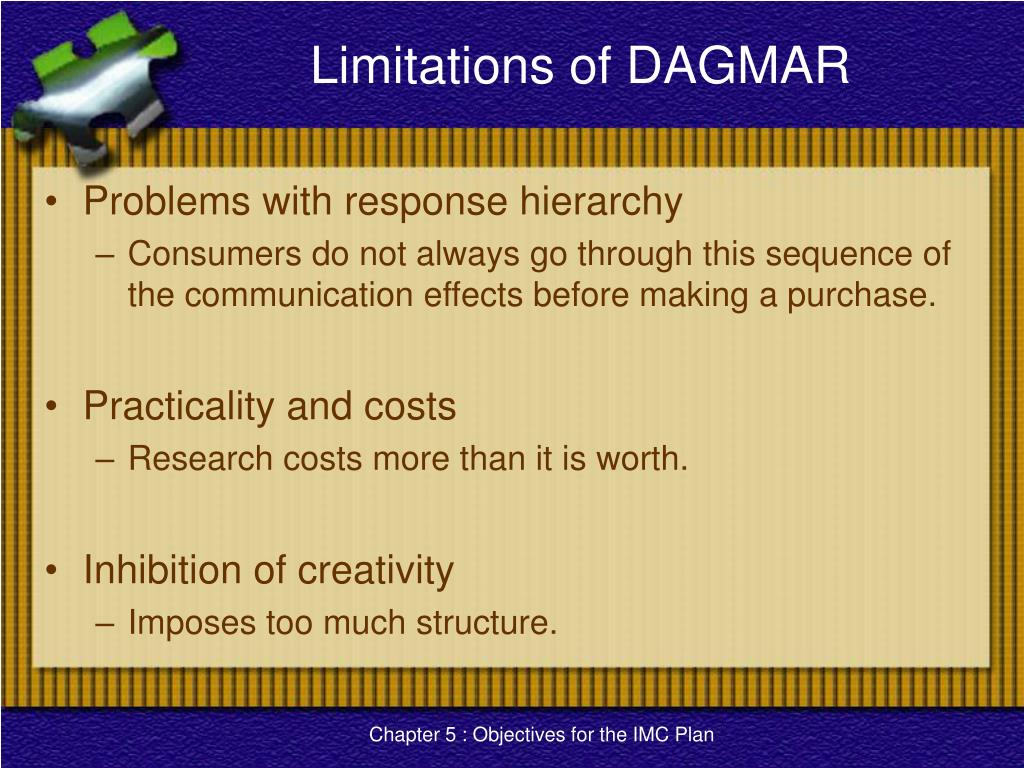 Limitations of DAGMAR